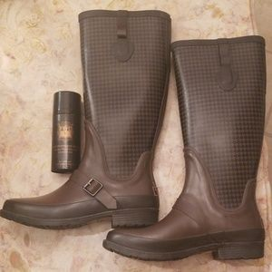 L.L.Bean Wellie Houndstooth